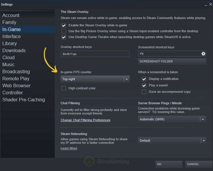 steam in game fps counter