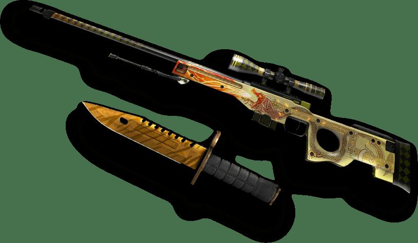 awp dragon lore and bayonet